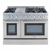 Thor Kitchen 48 Inch Stainless Steel Professional Gas Range Stainless Steel