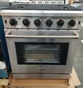 Out Of Box Thor Kitchen 30 Professional Range 5 Burner Stainless Steel New