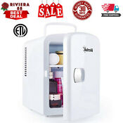 Mini Fridge 4 Liter 6 Can Ac Dc Portable Thermoelectric Cooler And Warmer White