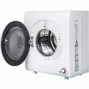 Electric Tumble Compact Laundry Dryer Stainless Steel Wall Mounted 2 65 Cu Ft