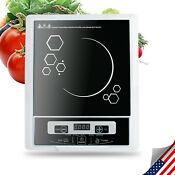 Ce Electric Portable Induction Cooker Burner Cooktop Digial Led Display Kitchen