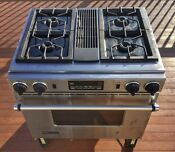 Stainless Steel Jenn Air Dual Fuel Downdraft Range Oven Stove Free Shipping