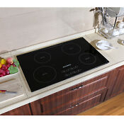 31 5 Inch Glass Induction Hob Touch Control 220v Electric Induction Hob Cooktop