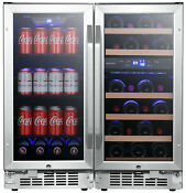 Edgestar Cwbv80261 30 W 26 Bottle 80 Can Side By Side Wine And Stainless Steel