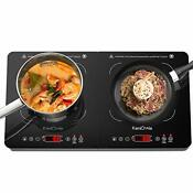 Electric Induction Cooktop Countertop Burner 1800w Digital Double Induction