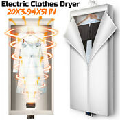 1000w Foldable Electric Clothes Dryer Timing Heater Machine Home Wardrobe Us