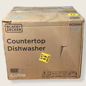 Black Decker Bcd6w 6 Place Setting Compact Countertop Dishwasher
