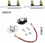 Replacement Part Kit 279816 Dryer Thermostat 2 Pcs 3392519 Thermal Fuse