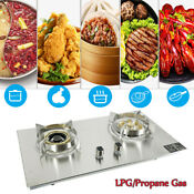 29 Built In Gas Cooker Stove 2 Burners Lpg Propane Gas Hob Kitchen Gas Cooktop