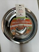 Range Kleen 1056r68ge4x Style D Chrome 2 Pack Drip Pans And 2 Pack Trim Rings
