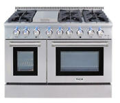 Thor Kitchen Hrd4803u 48 W 6 7 Cu Ft Capacity Freestanding Dual Stainless