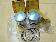 Suzuki T200 Tc200 Pistonandring Set 1.00 Nos Genuine P/n 12110-10710 And12140-10740
