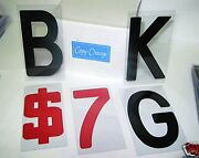 8 On 8 7/8 Block Flexible Sign Letters For Outdoor Portable Marquee Signs