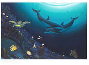 Wyland Ocean Reef Life New S/n Lithograph With Coa