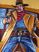 Johnny Cash Painting Last Days Of Frank And Jesse James Movie Western Cowboy Gun