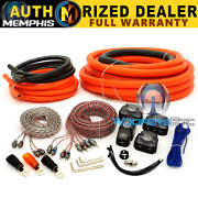 0gkit Memphis 0 Gauge Amplifier Car Audio 2 And 4 Channel Rca Wire Sub Amp Kit New