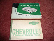 Corvette 1960 Owners Manual Orig And Owners Protection 3770472 Second Edition