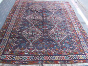 Antique Shiraz Rug Carpet Wool Rare Hand Made 1900