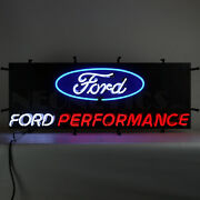 36 Neon Sign 3and039 Ford Performance Parts Blue Oval Racing Neonetics Svt Lamp Olp