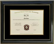 Diploma Certificate Glossy Black Lacquer Wood Honors Frame Double Matted C75