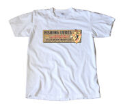 Vintage Paw Paw Fishing Lures Decal T-shirt - Indian