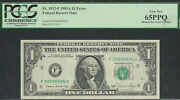1 1981-a=frn=mismatch=error-mismatched Serial Numbers=pcgs-65 Ppq