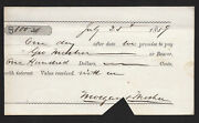 Promissory Note For Morgan And Mosley=no Bank Name=fiscal Relic=1859
