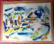 1949 Abstract Ink Drawing By Don Crawford Fairmount Park