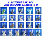 21 New Different Puppy Dog Puppies A-g Ornament Cell Phone Danglers You Pick