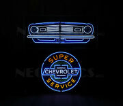 Camaro Z/28 Chevrolet Grille Neon Sign Dads Garage Wall Lamp Light Chevy Ss Z28