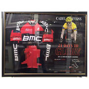 Cadel Evans Signed Framed 2011 Red Bmc 21 Days To Glory Limited Edition Jersey