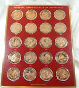 Franklin Mint History Of Usa Bronze Coin Set