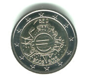 Belgium 2012 - 2 Euro Comm - 10th Anniversary Intro Of Euro Coins And Notes Unc