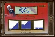 Peyton Manning 2010 Tribute Red Auto 1/1 Triple Patches Logo Beautiful Hof Wow