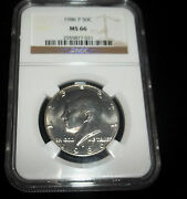 1986-p Ngc Ms66 Kennedy Half White Gem You Choose The One You Want