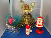 Lot Of 4 Vintage Christmas Collectibles Bobblehead Angel Tree Topper