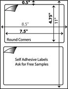 1200 W Self Adhesive Shipping Labels Paypal Usps Ups 7-3/8 X 4.5 Great For 000
