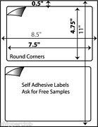400 Premium Shipping Labels Round Corners Self Adhesive For Paypal Usps Fedex W