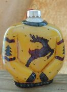 Vintage Ugly Christmas Sweater Hand Painted On The Inside Glass Ornament