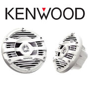 Kenwood 16.5cm 150w White Marine Speakers For Boats Bathrooms Kitchens Grills
