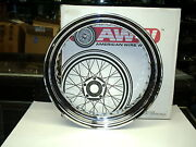 American Made Show Chrome Steel 16 Rim For Harley Hubs By American Wire Wheel
