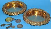 Wine Coasters Sterling And Gold Wash By Howard And Co. N.y. C1882 Grapes Exceptional