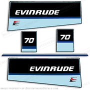 Evinrude 1984 70hp Outboard Decal Kit -discontinued Decal Reproductions In Stock