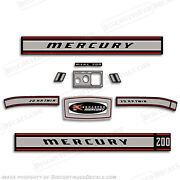 Mercury 1967 20hp Outboard Decal Kit - Discontinued Decal Reproductions In Stock