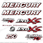 Mercury 250hp Optimax Proxs Outboard Engine Decals Pro Xs Reproductions In Stock