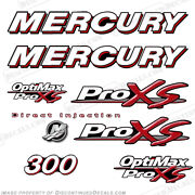 Mercury 300hp Optimax Proxs Outboard Engine Decals Pro Xs Reproductions In Stock
