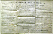 Andrew Jackson Land Grant To John Todd Signed As President 1831