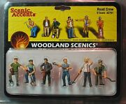 Woodland Scenics Figures O Scale A2761 Road Crew Train People Wds2761 New