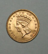 1888 G1 Gold Dollar Type 3 Indian Head Amazing Coin And Condition+++++