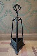 19th Century Cast Iron Fireplace Tool Or Cane Holder